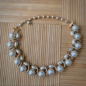Vintage Mid-Century Faux Pearl Choker Necklace